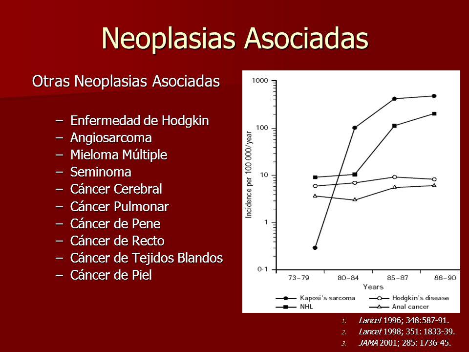 Neoplasias Asociadas Otras Neoplasias Asociadas Enfermedad de Hodgkin