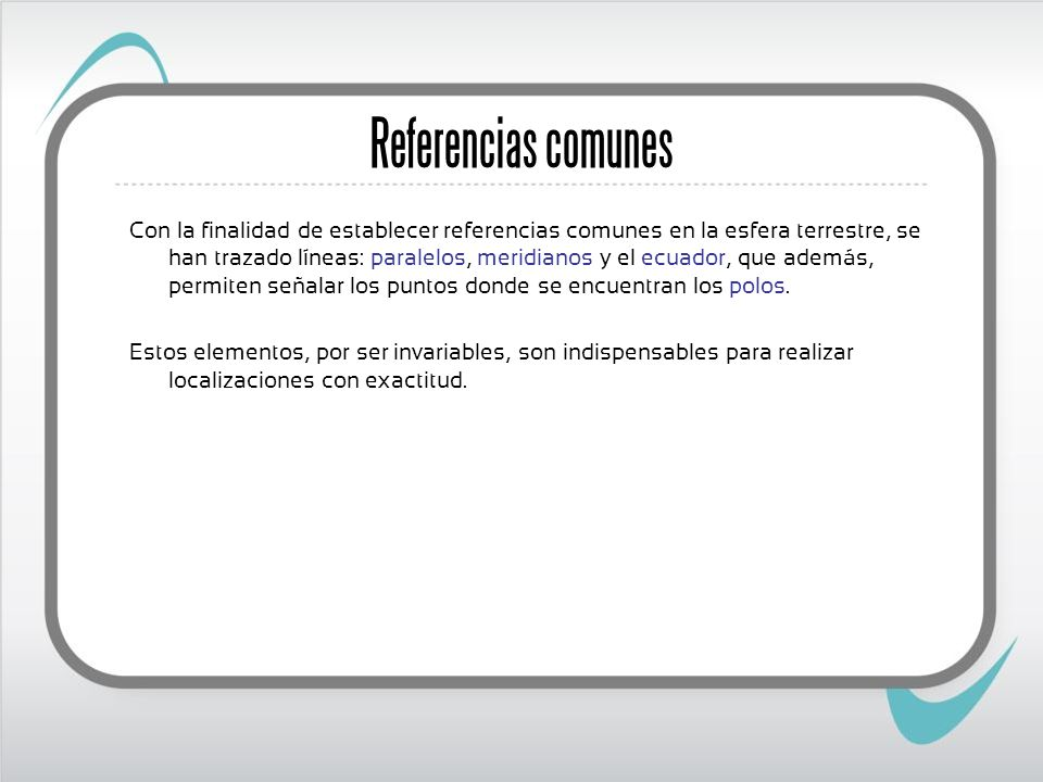 Referencias comunes