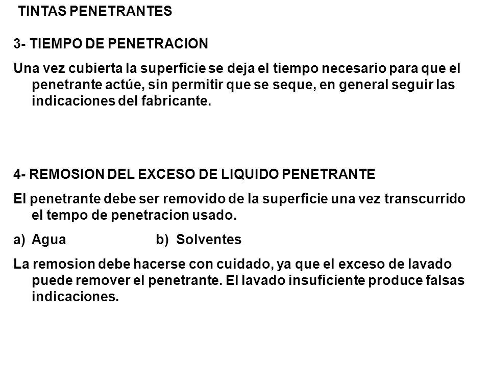 TINTAS PENETRANTES 3- TIEMPO DE PENETRACION.