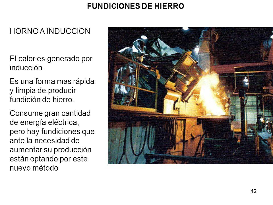 FUNDICIONES DE HIERRO HORNO A INDUCCION. El calor es generado por inducción. Es una forma mas rápida y limpia de producir fundición de hierro.
