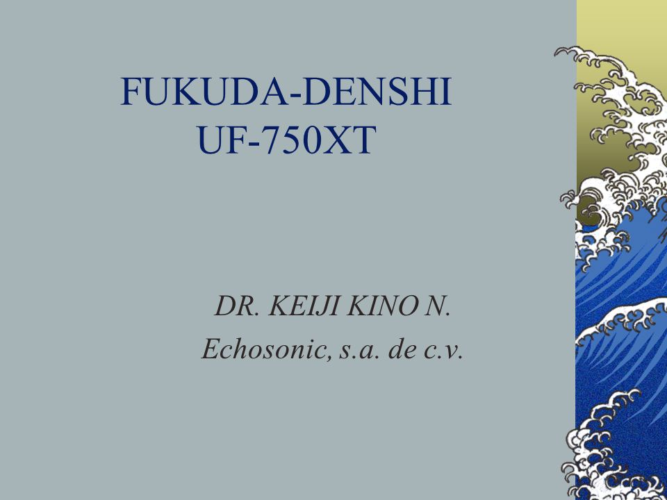 DR. KEIJI KINO N. Echosonic, s.a. de c.v.