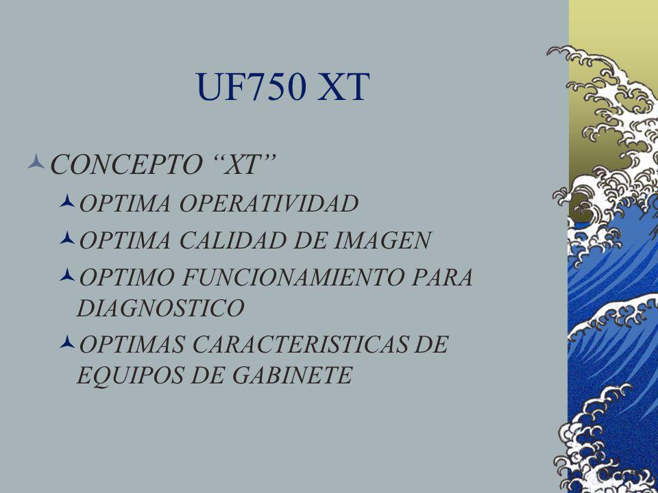 UF750 XT CONCEPTO XT OPTIMA OPERATIVIDAD OPTIMA CALIDAD DE IMAGEN