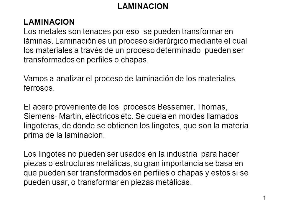 LAMINACION LAMINACION.