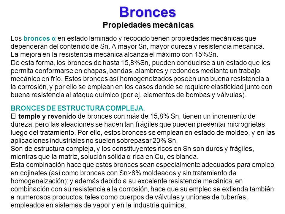 Bronces Propiedades mecánicas
