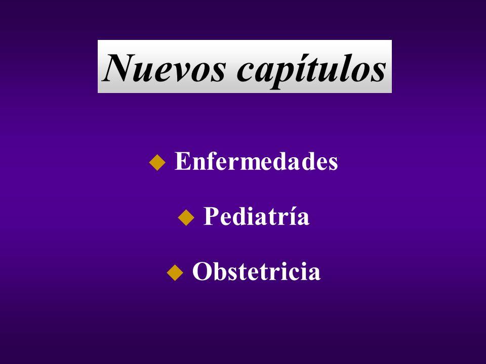 Nuevos capítulos Enfermedades Pediatría Obstetricia