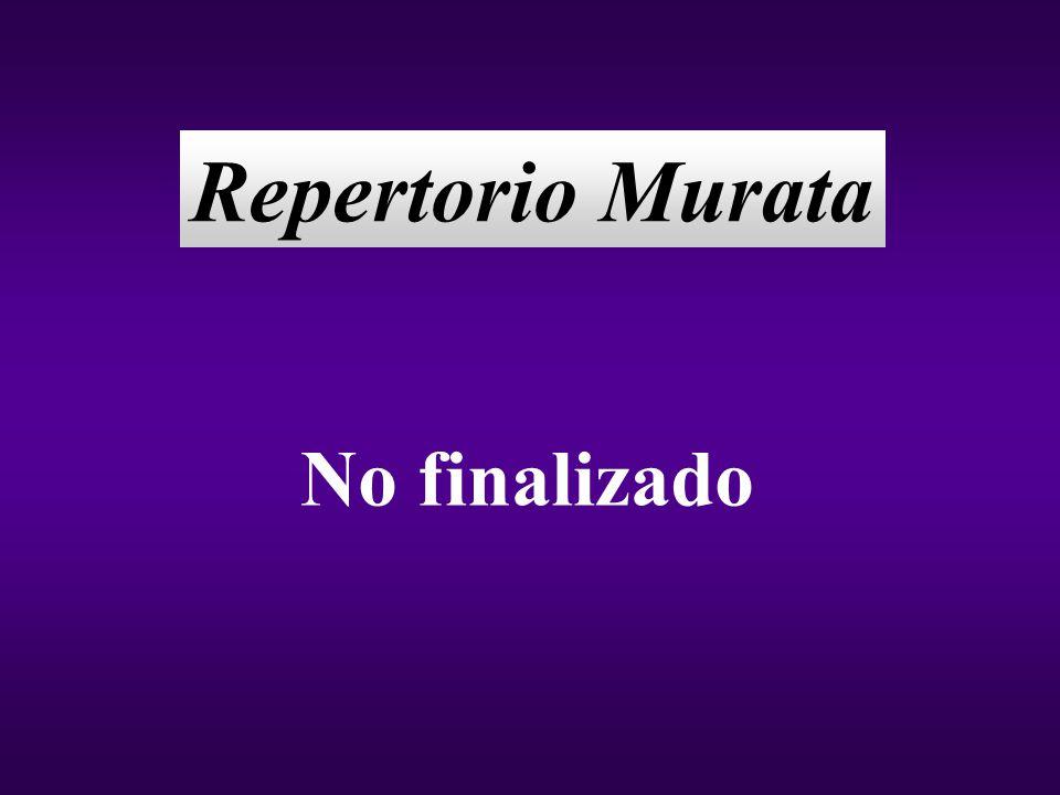 Repertorio Murata No finalizado