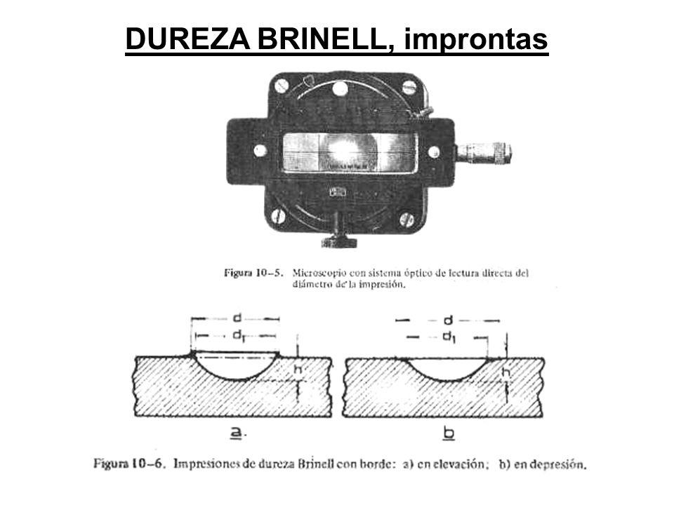 DUREZA BRINELL, improntas