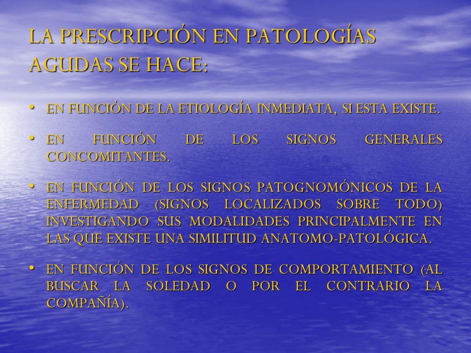 LA PRESCRIPCIÓN EN PATOLOGÍAS AGUDAS SE HACE: