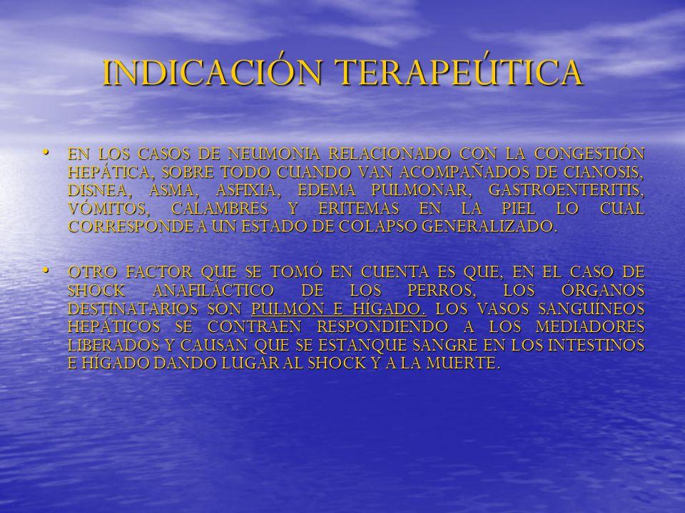 INDICACIÓN TERAPEÚTICA