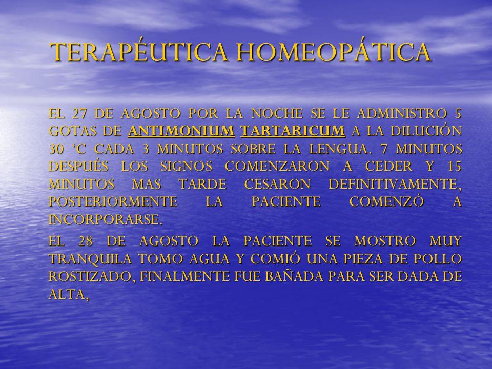 TERAPÉUTICA HOMEOPÁTICA
