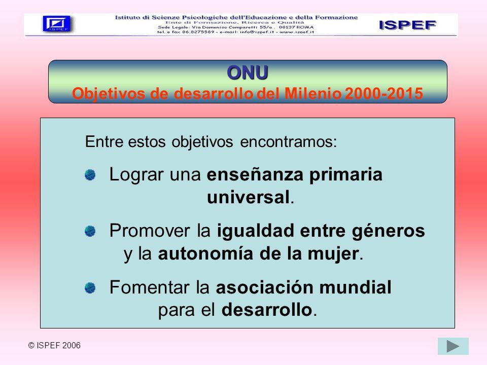 Objetivos de desarrollo del Milenio 2000-2015