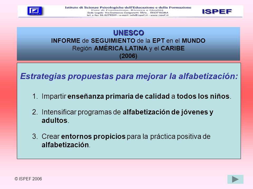 Estrategias propuestas para mejorar la alfabetización:
