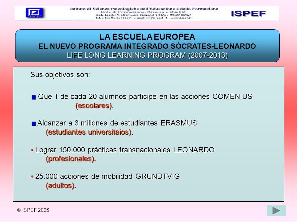 EL NUEVO PROGRAMA INTEGRADO SÓCRATES-LEONARDO