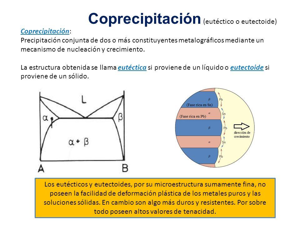 Coprecipitación (eutéctico o eutectoide)
