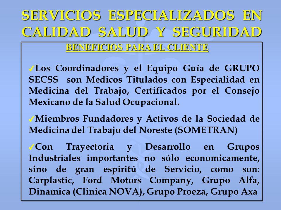 SERVICIOS ESPECIALIZADOS EN CALIDAD SALUD Y SEGURIDAD