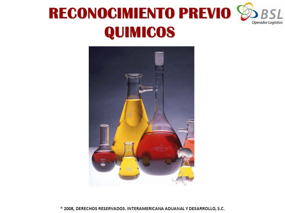 RECONOCIMIENTO PREVIO QUIMICOS