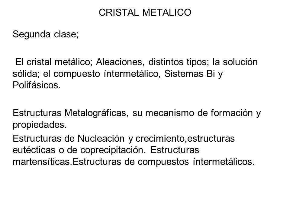 CRISTAL METALICO Segunda clase;