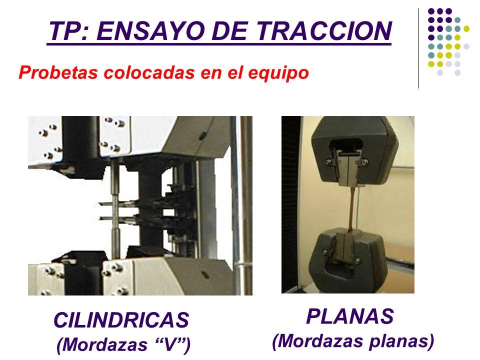 TP: ENSAYO DE TRACCION PLANAS CILINDRICAS