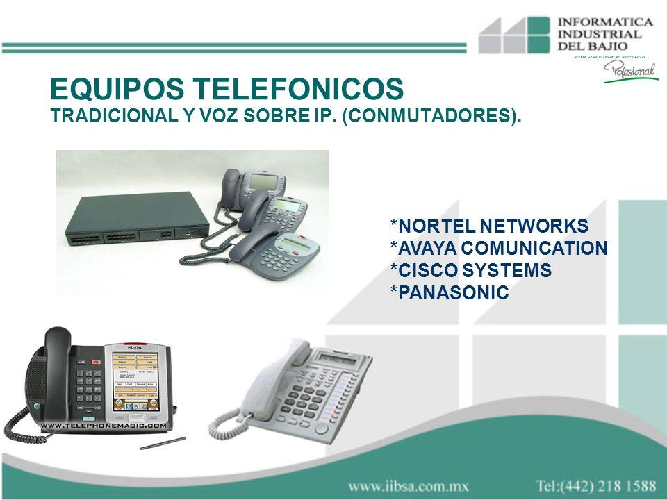 EQUIPOS TELEFONICOS TRADICIONAL Y VOZ SOBRE IP. (CONMUTADORES).