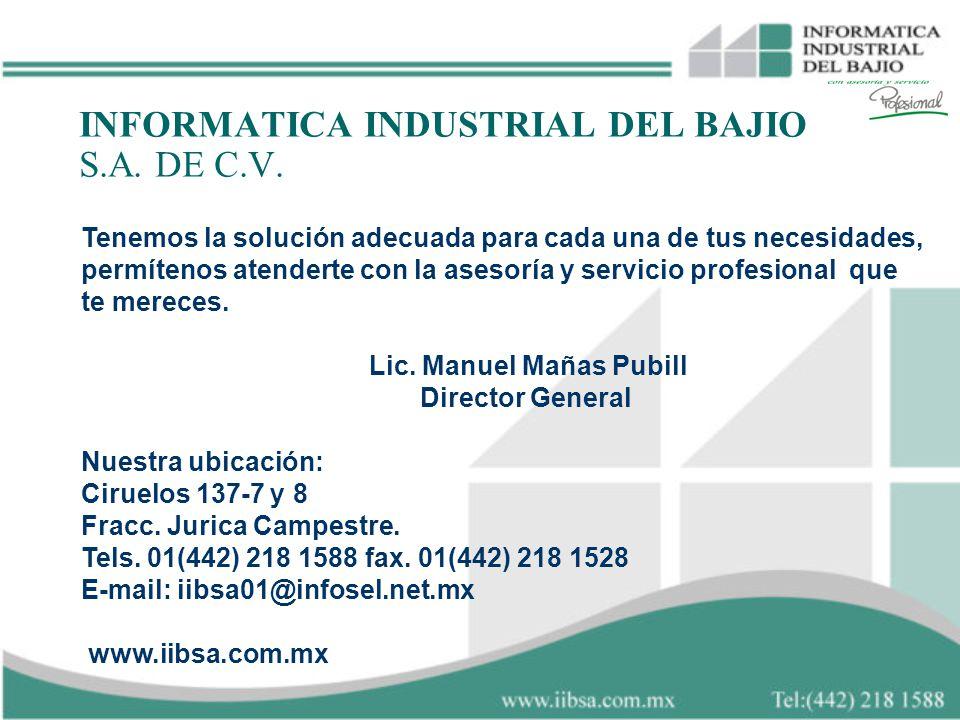 INFORMATICA INDUSTRIAL DEL BAJIO S.A. DE C.V.