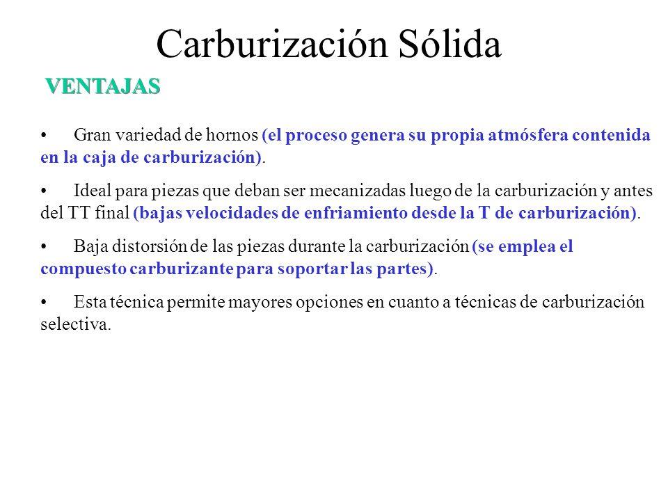 Carburización Sólida VENTAJAS