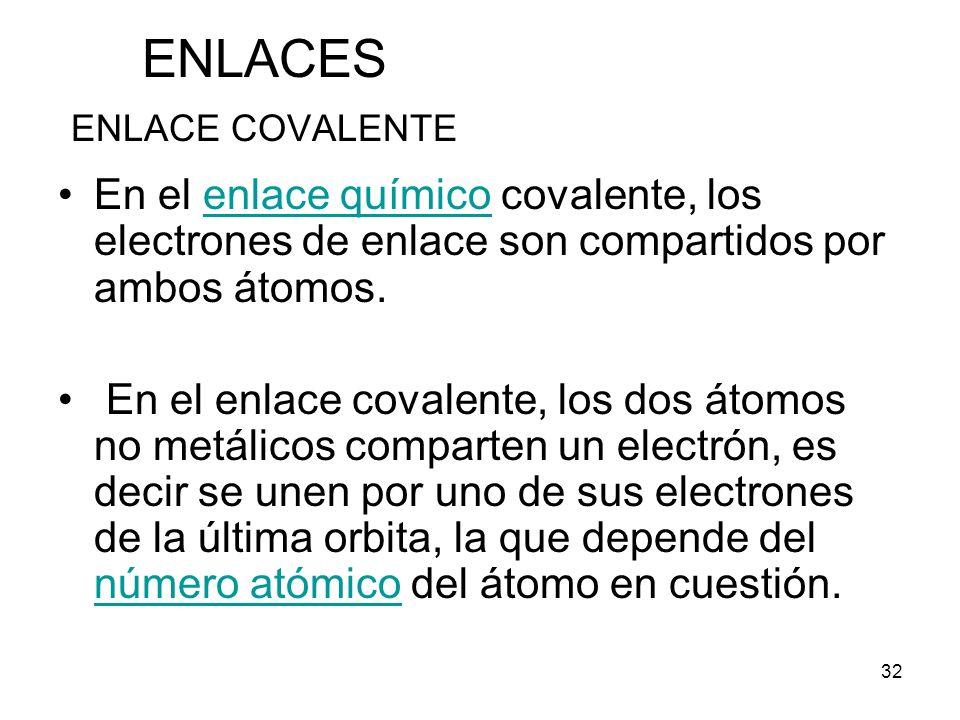 ENLACES ENLACE COVALENTE