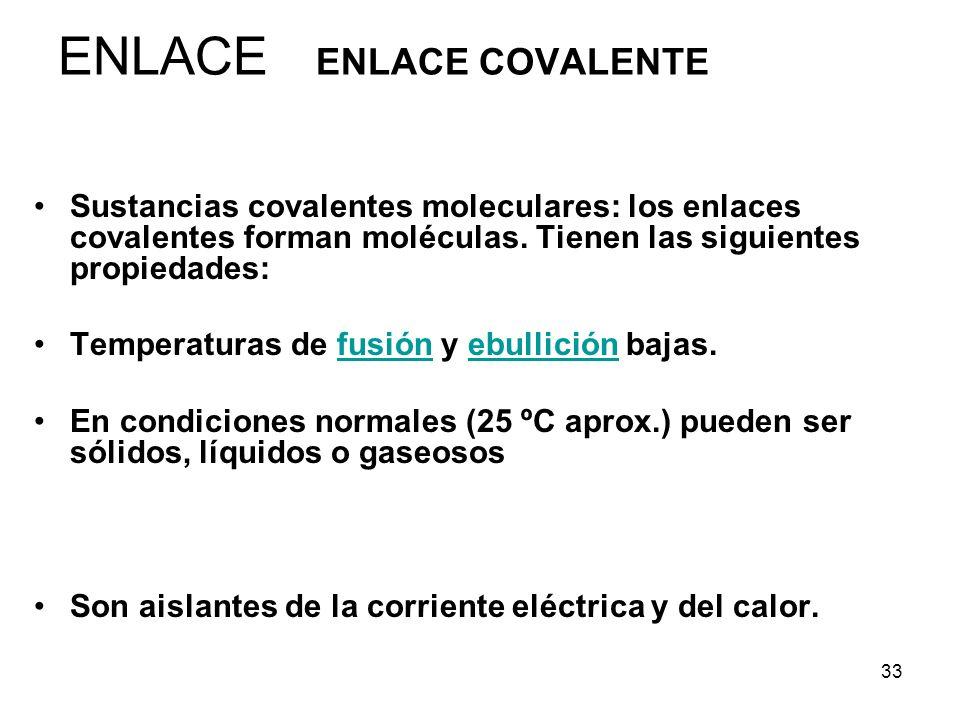 ENLACE ENLACE COVALENTE