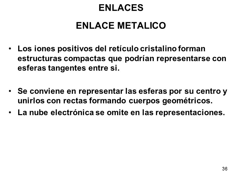 ENLACES ENLACE METALICO