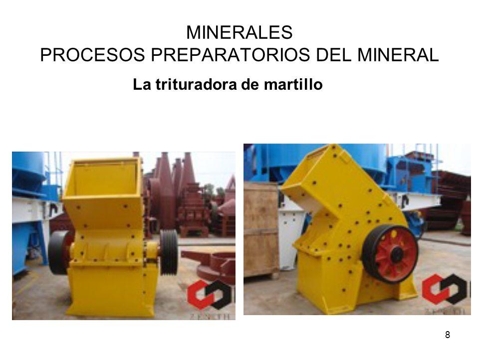 MINERALES PROCESOS PREPARATORIOS DEL MINERAL