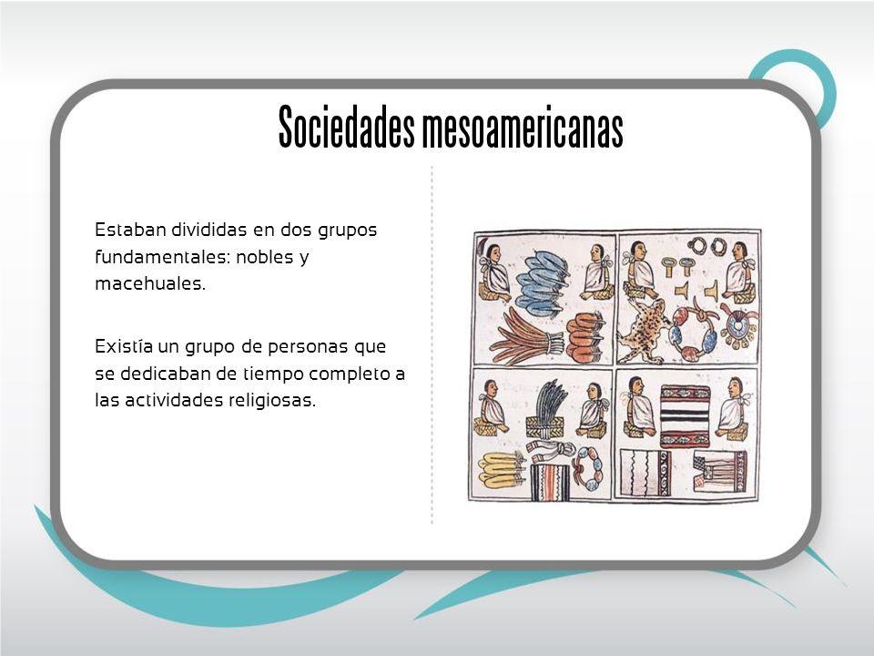 Sociedades mesoamericanas