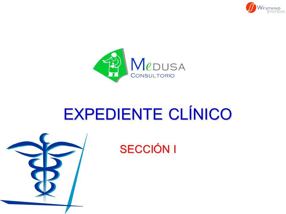 EXPEDIENTE CLÍNICO SECCIÓN I