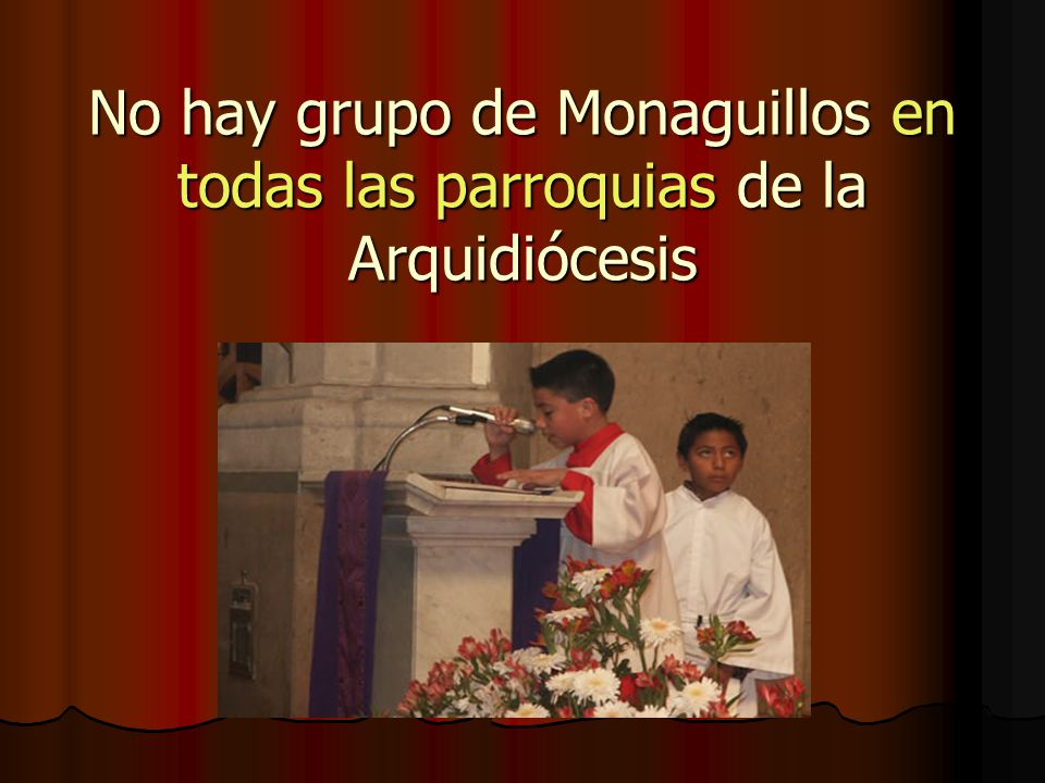No hay grupo de Monaguillos en todas las parroquias de la Arquidiócesis