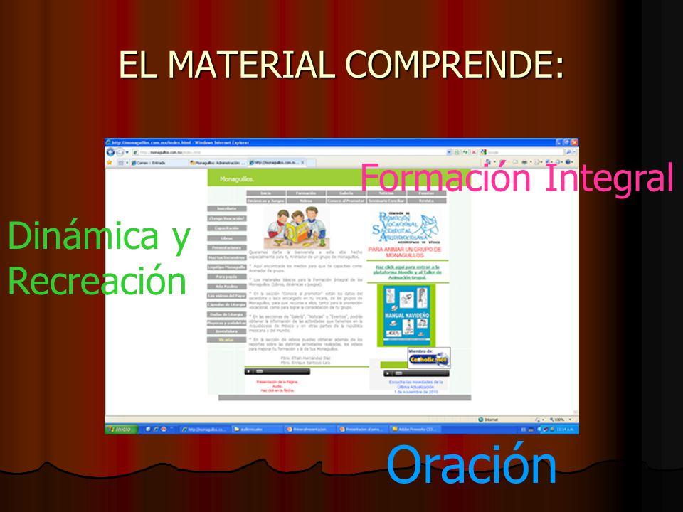 EL MATERIAL COMPRENDE: