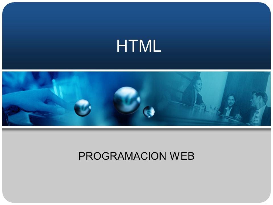 HTML PROGRAMACION WEB