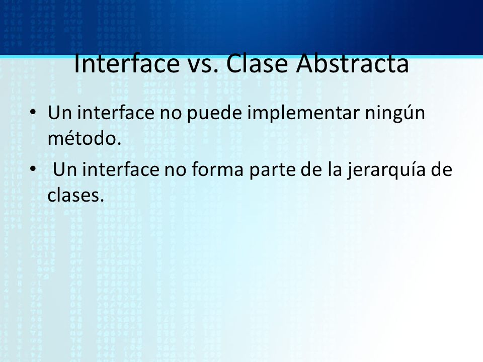 Interface vs. Clase Abstracta