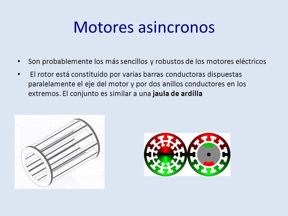 Motores asincronos Son probablemente los más sencillos y robustos de los motores eléctricos.