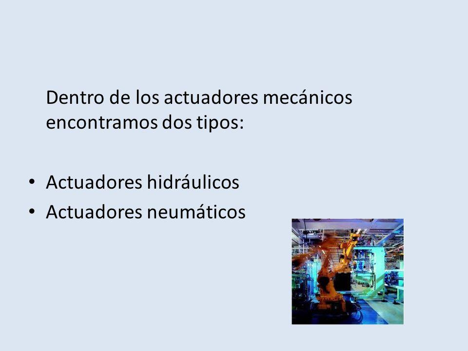Dentro de los actuadores mecánicos encontramos dos tipos: