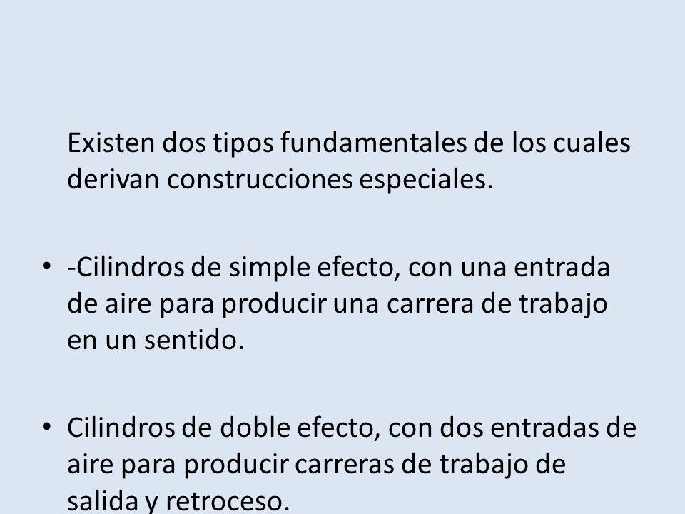Existen dos tipos fundamentales de los cuales derivan construcciones especiales.