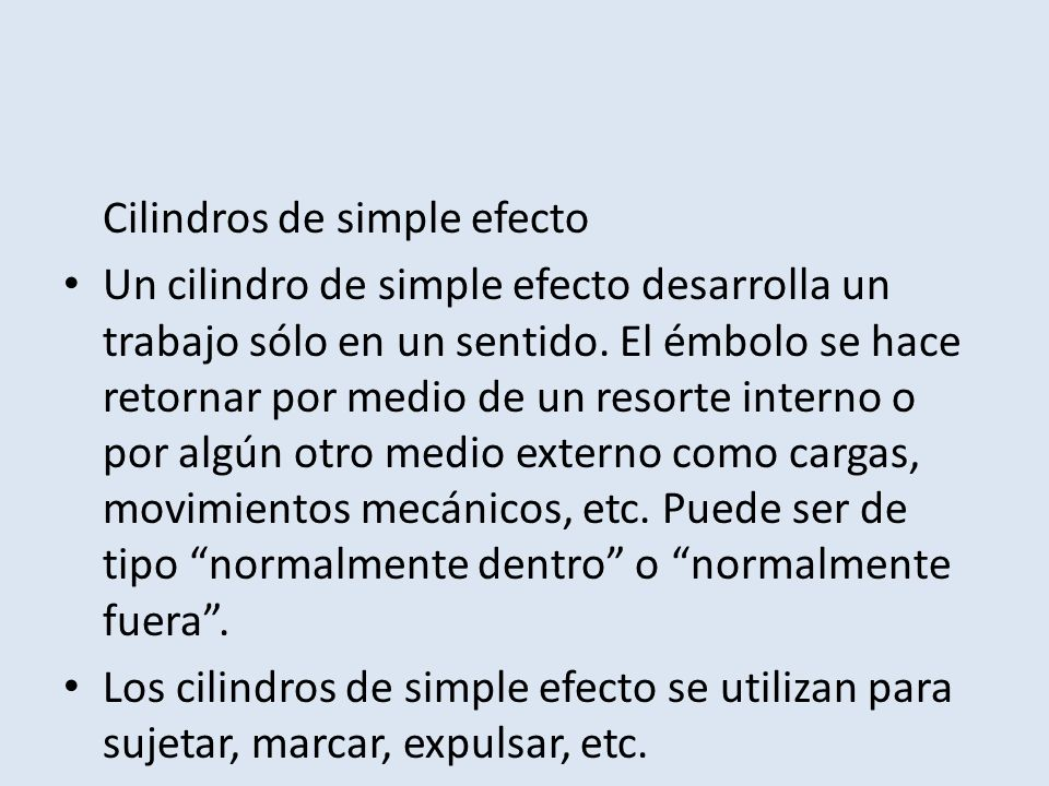 Cilindros de simple efecto
