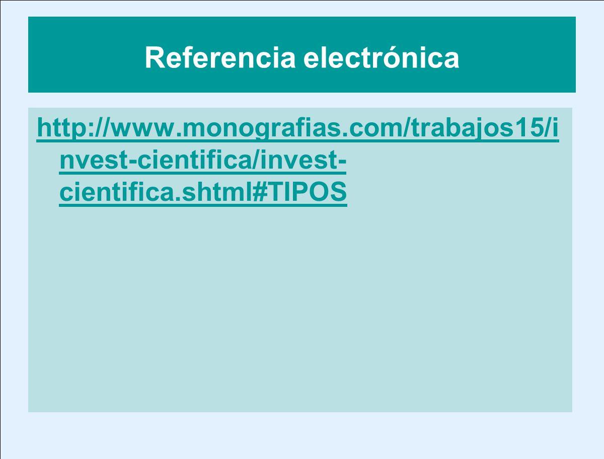Referencia electrónica