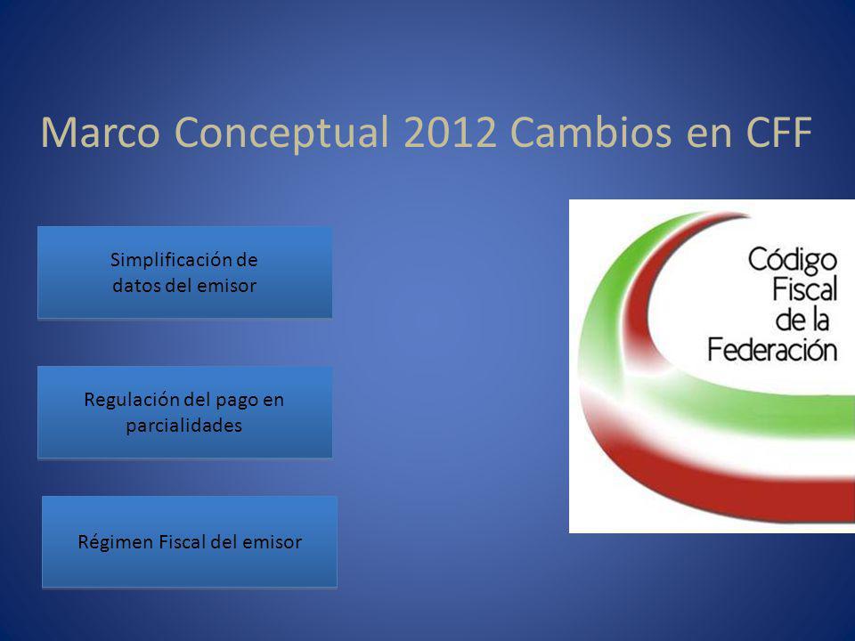 Marco Conceptual 2012 Cambios en CFF