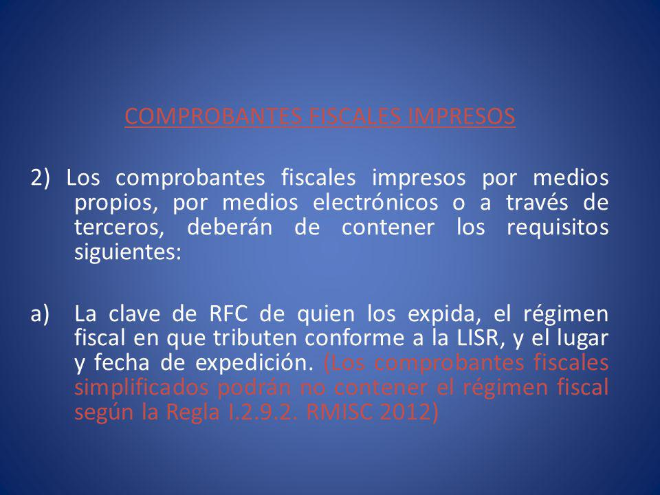 COMPROBANTES FISCALES IMPRESOS