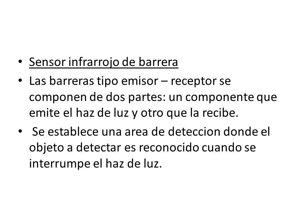 Sensor infrarrojo de barrera