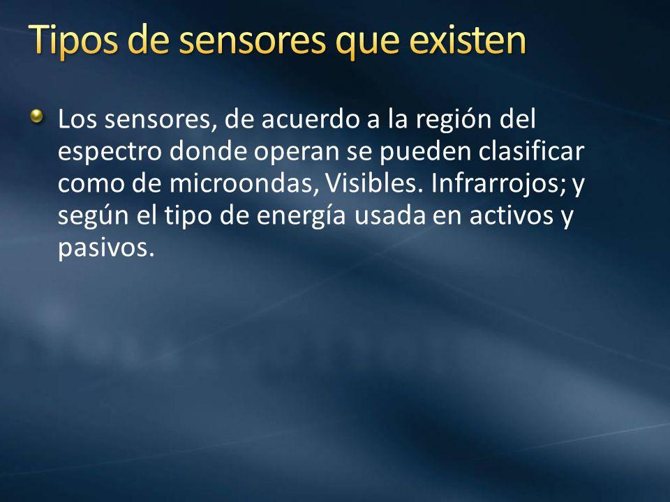 Tipos de sensores que existen