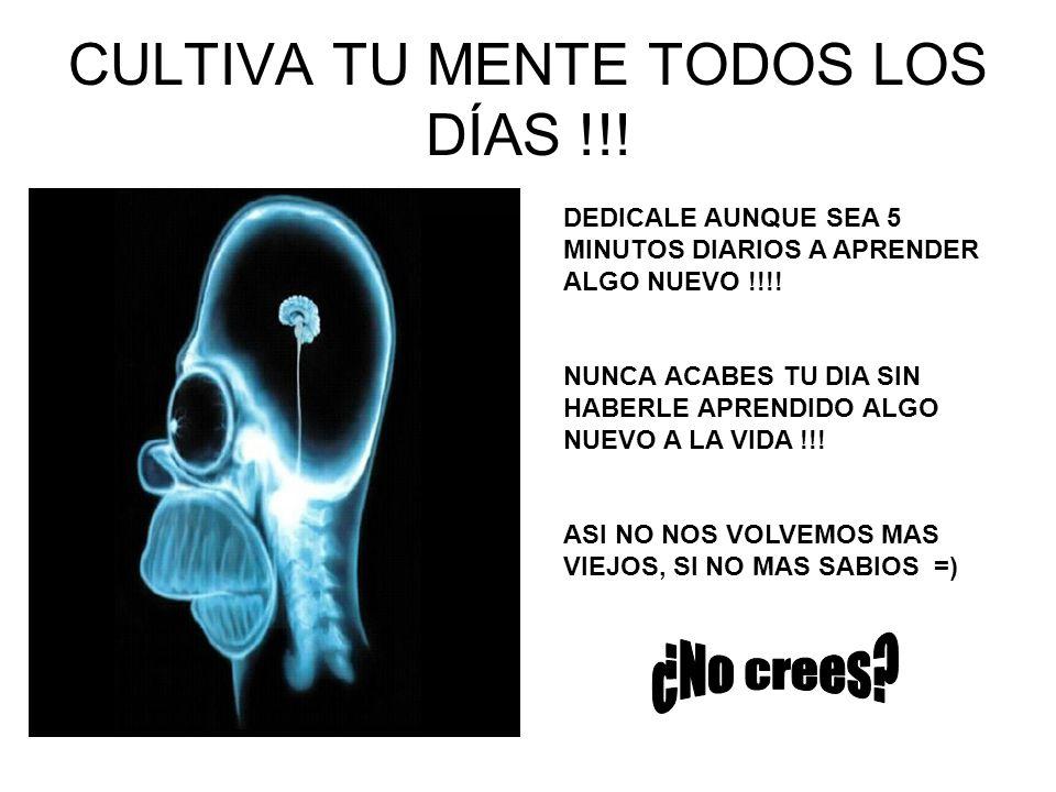 CULTIVA TU MENTE TODOS LOS DÍAS !!!