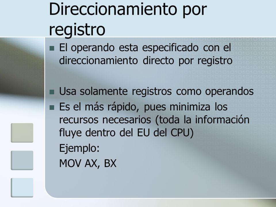 Direccionamiento por registro