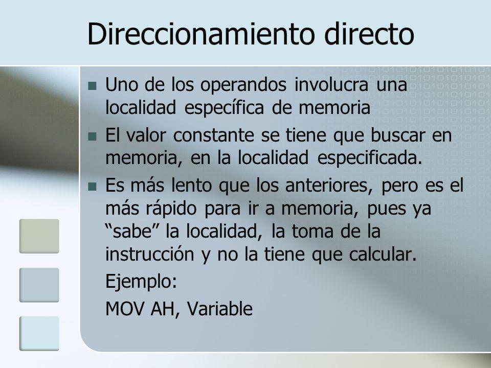 Direccionamiento directo