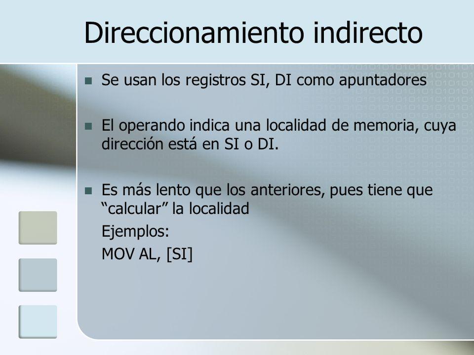 Direccionamiento indirecto
