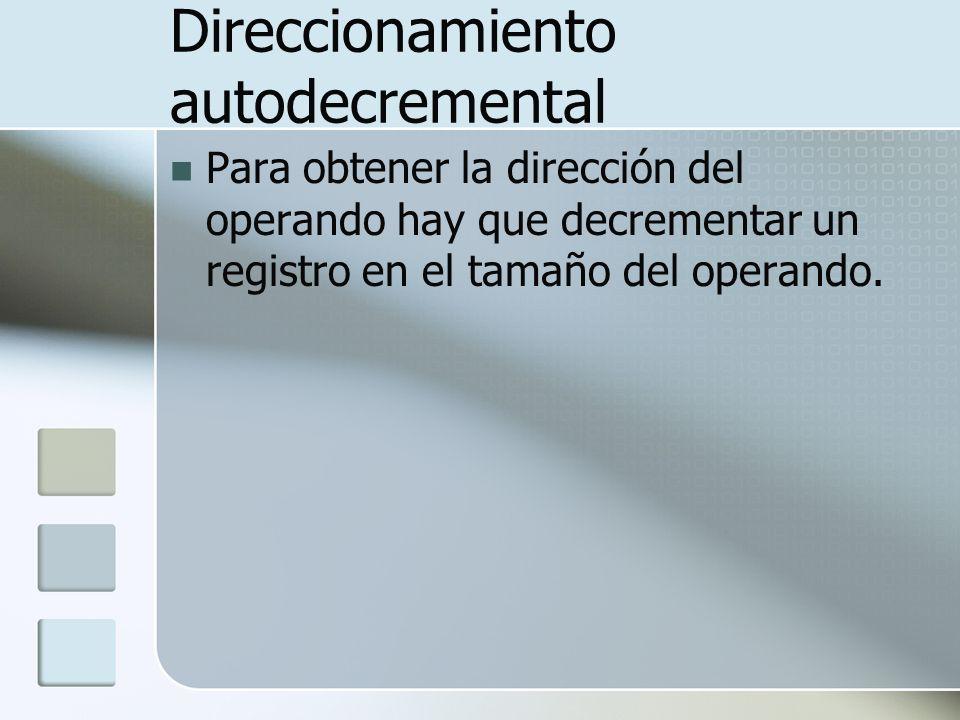 Direccionamiento autodecremental