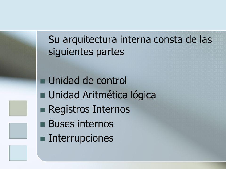 Su arquitectura interna consta de las siguientes partes